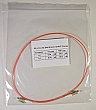 LC/PC-LC/PC 1-meter 62.5um MMF jumper, with 900um-buffered fiber. P/N: SX-LC/LC 62.5MM 0.9mm - 1m PVC Orange