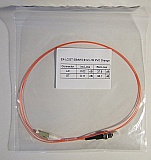 LC/PC-ST 1-meter 50um MMF jumper, with 900um-buffered fiber. P/N: SX-LC/ST 50MM 0.9mm - 1m PVC Orange