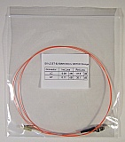 LC/PC-ST 1-meter 62.5um MMF jumper, with 900um-buffered fiber. P/N: SX-LC/ST 62.5MM 0.9mm - 1m PVC Orange