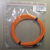 FC/PC(UPC)-FC/PC(UPC) 3mm 100/140um large-core MMF jumper, 5-meter. JDS P/N: J-FPFP-3-005-J1