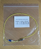 LC/PC-FC/PC 1-meter SMF jumper, with 900um buffer. P/N: SX-LC/FC SM 0.9mm - 1m PVC Yellow
