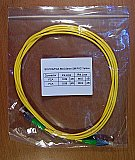 FC/APC-FC/APC 2-meter SM Fiber simplex jumper in 3mm cable, Corning SMF-28e fiber. Economical products. It may not match fiber connectors of other brands well. P/N:SX-FC/A-FC/A SM 3.0mm-2M PVC Yellow