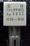 850nm optical receiver, HP model: HFBR-2416.