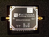 Multilink 10Gb Modulator Driver module, MTC5515-751. Samples are tested wide band.