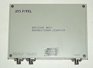 1x2 JDS Fitel Bidirectional Fiber Optic Coupler WD1533R-MCI1