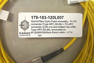 FC/APC-FC/PC SM Fiber jumper, 7-meter. High return loss.