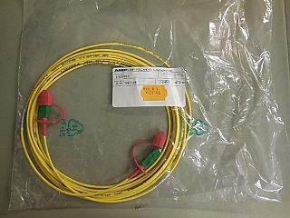 SC/APC-SC/APC 5-meter simplex fiber jumper  TYCO/AMP P/N: 0-0233186-5