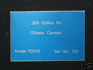 JDS Optics Inc. 7000S Variable Optical Attenuator.  'Sell As Is', 'No Return'